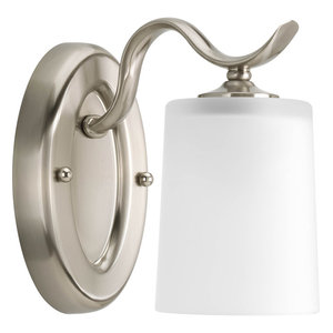 Inspire Collection 1-Light Bath Light, Brushed Nickel