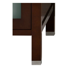 "Ronbow Essentials 3/4"" Bathroom Vanity, Metal Feet, Set of 4, Polished Chrome"