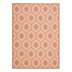 """Waverly Sun and Shade Bubbly Indoor Outdoor Area Rug, Tangerine, 7'9""""x10'x10"""""""