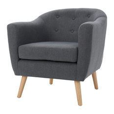 GDFStudio - Miller Metropolitan Club Chair, Charcoal - Armchairs & Accent Chairs