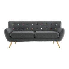 LexMod - Remark Upholstered Fabric Sofa, Gray - Sofas