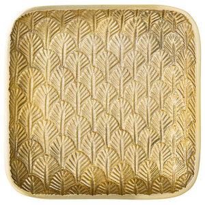 Bloomingville Aruba Square Gold Metal Tray