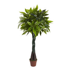 4 ft. Real Touch Money Plant in Green