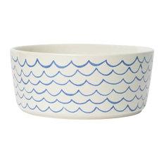 Sketched Wave Dog Bowl