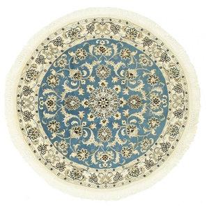 Nain 9La Persian Rug, Round Hand-Knotted, 118x118 cm
