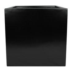 "Dixon Square Cube Planter Box, Black, 19""x19""x19"""