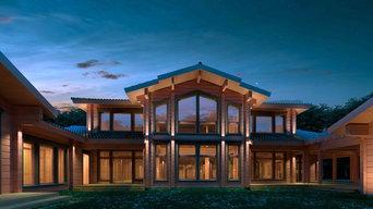 Архитектурно-художественная подсветка частного дома в Репино