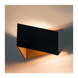 Wall Lamp Fold Black with Gold