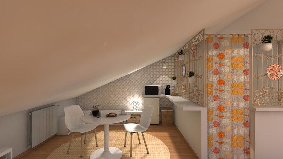 Bajo cubierta habilitado para apartamento