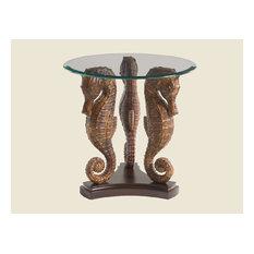 Emma Mason Signature Marble Hill Lamp Table In Rich Tobacco Finish
