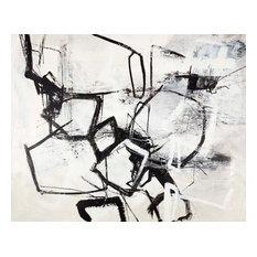 """Contemporary Hand Painted Canvas Art, Large-""""Black Noir"""""""