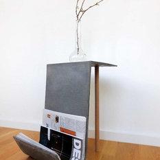 moderne zeitungsst nder zeitschriftenst nder magazinhalter houzz. Black Bedroom Furniture Sets. Home Design Ideas
