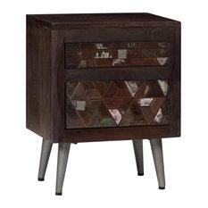 vidaXL Bedside Cabinet Solid Reclaimed Wood 15.7-inchx11.8-inchx19.6-inch Nightstand Unit by vidaXL
