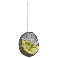 Patio Swing Chair Without Stand, Gray and Peridot