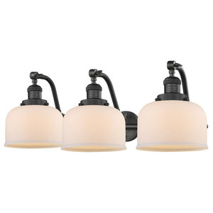 """Oiled Rubbed Bronze 3-Light, Vintage Dimmable LED Bulbs, 28"""" Bath"""