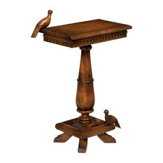 GuildMaster   Socle Table With Birds, Wood   Side Tables And End Tables