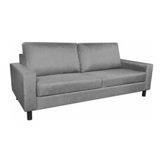 vidaXL 3-Seater Sofa Couch Seats Living Room Seating Wooden Frame Light Gray