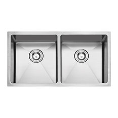 "Undermount Stainless Steel Kitchen Sink, 33"", Double Bowl"