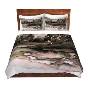 157ccce7 Never Leave the Path ll Twill Duvet Cover, King Duvet and Sham Set