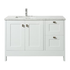 "Stufurhome Calypso 48"" White Single Sink Bathroom Vanity"