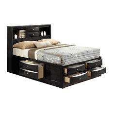 Ireland Bed, Eastern King, Black, Queen