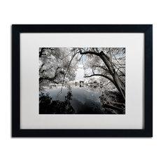 """Philippe Hugonnard 'White Foliage' Art, Black Frame, White Matte, 20""""x16"""""""