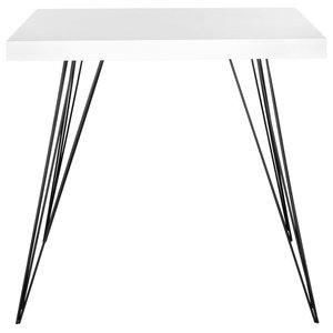Safavieh Adam Lacquer Accent Table, White and Black