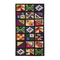 Novica Calendar Wool Tapestry