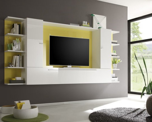 Modern Wall Unit TV Media Entertainment Center Jazz Composition 1    $1,266.00   Entertainment Centers And
