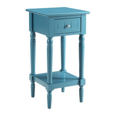 Perfect Convenience Concepts   French Country Khloe Accent Table, Blue   Side Tables  And End Tables