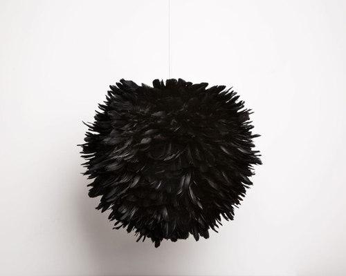 luminaire boule plumes. Black Bedroom Furniture Sets. Home Design Ideas