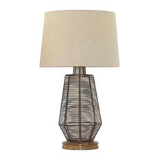 Ashley Furniture Homestore   Ashley Artie Metal Table Lamp, Natural Finish    Table Lamps