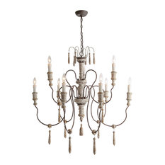 LNC 8-Light Shabby-Chic French Country Retro-white Rust Two-tier Chandeliers