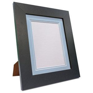 """Brix Frame, Black, Blue Double Mount, 6x4"""", Image 4.5x2.5"""""""