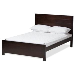 Full Platform Bed in Espresso Finish
