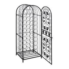 vidaXL - VidaXL Metal Wine Cabinet Rack Stand for 45 Bottles - Wine Racks