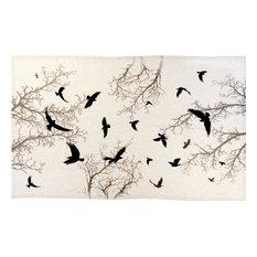 "Crow Natural Linen Tablecloth, 66""x108"""