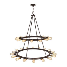 Crystorama Dakota 33-Light Bronze Chandelier