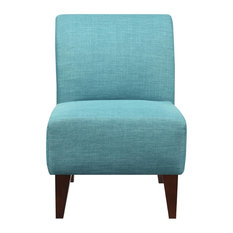 Picket House   North Accent Slipper Chair, Teal   Armchairs And Accent  Chairs