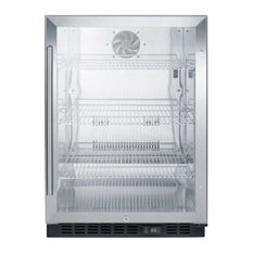 Commercial, Beverage Refrigerator With Ss Interior SCR610BLCSS