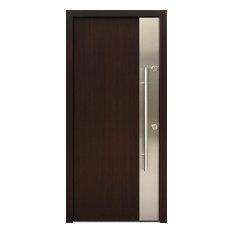 Ville Doors   Stainless Steel Modern Entry Door, Left Hand Inswing   Front  Doors
