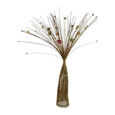 Red, Green and Gold Sparkle Burst Spray Tree, 85 cm