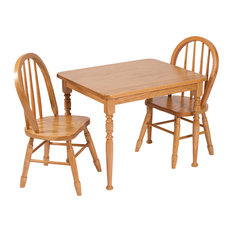 Furniture Barn Usa Amish Made Heirloom Child S Square Oak Table And Chairs Set Kids