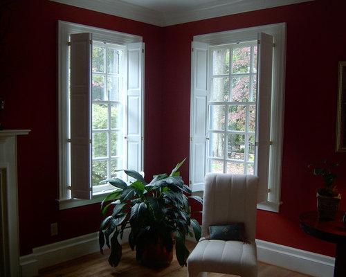 Raised Panel Shutters   Window Treatments