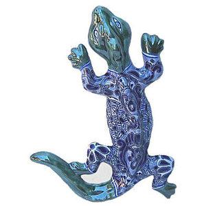 Tiny Multicolor Garden Ceramic Lizard