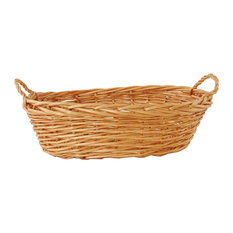 Oval Willow Basket With Ear Handles