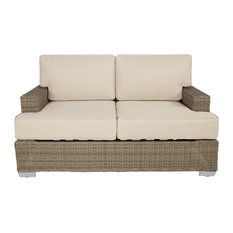 Palisades Outdoor Love Seat, Gray, Taupe