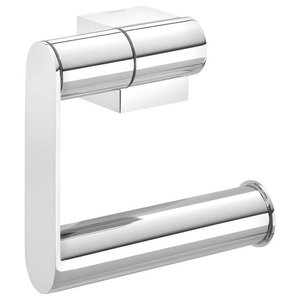 Nomad Toilet Roll Holder, Chrome, No Cover