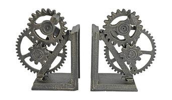 Industrial Gear Sculptural Iron Bookends