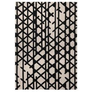 Artisan Pop Black Ivory Rectangular Funky Rug, 70x140 cm
